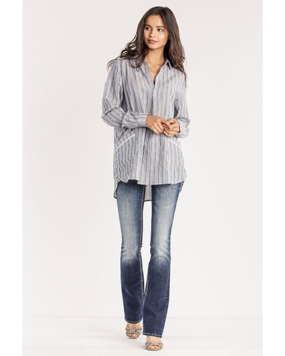 Miss Me Women's Floral Expression Mid-Rise Boot Cut Jeans, Indigo, hi-res
