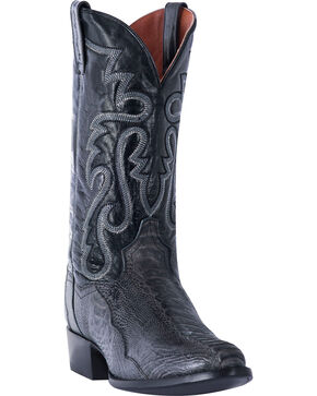 Dan Post Men's Antique Grey Ostrich Leg Cowboy Boots - Round Toe, Grey, hi-res