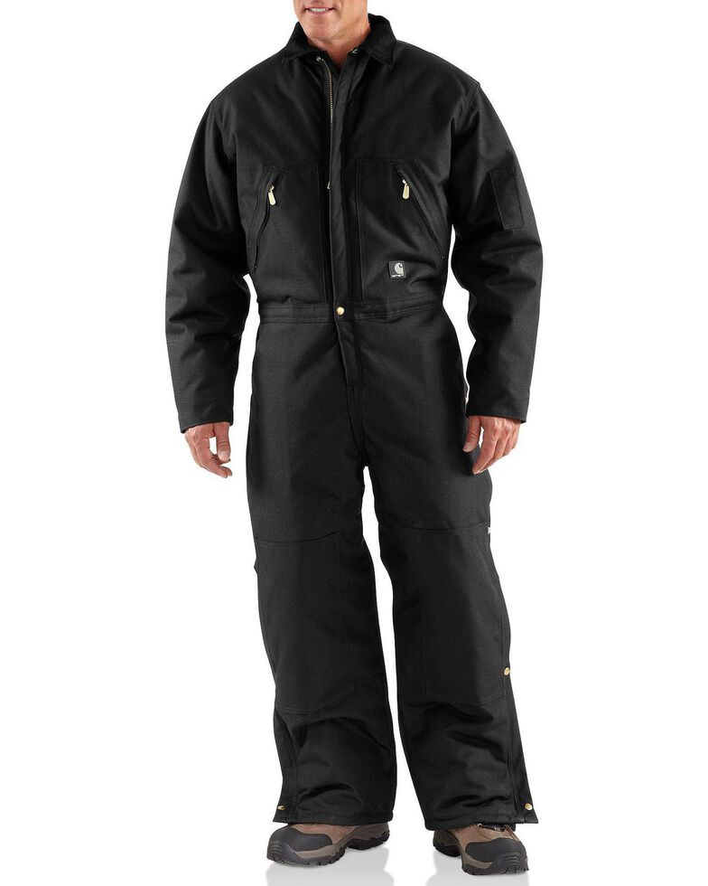 Carhartt Yukon Extremes® Arctic Quilt Lined Work Coveralls - Big & Tall, Black, hi-res