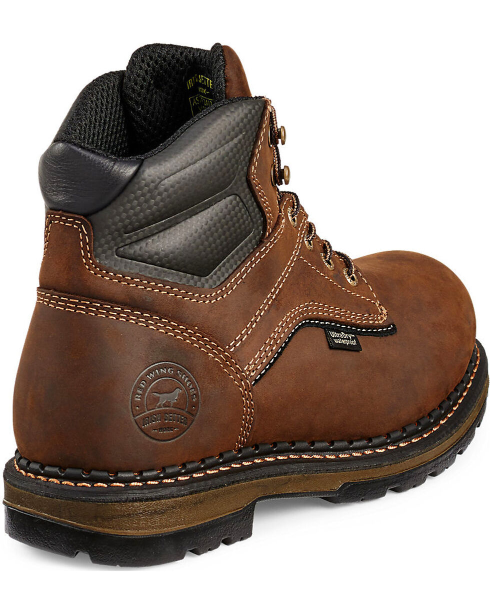 Irish Setter by Red Wing Shoes Men's Ramsey Lace-Up EH Waterproof Work Boots - Aluminum Toe , Brown, hi-res
