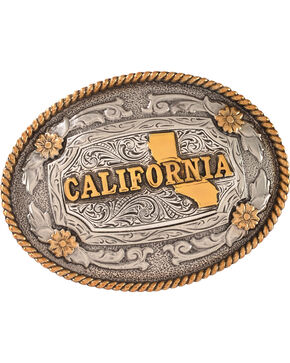 Cody James Men's Oval California Belt Buckle, Silver, hi-res