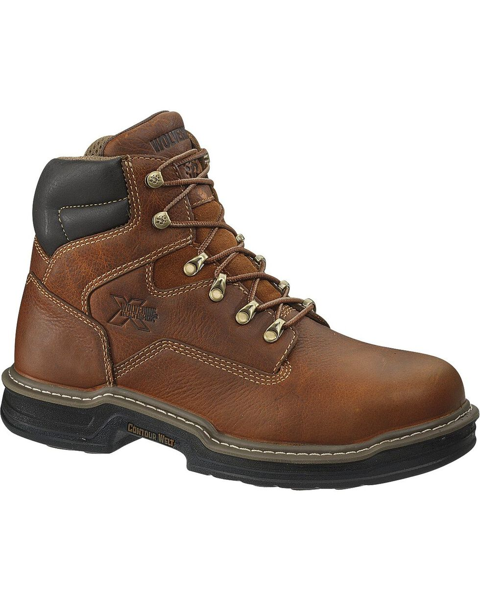 Wolverine Men's Raider DuraShocks® Steel Toe EH Work Boots, Brown, hi-res