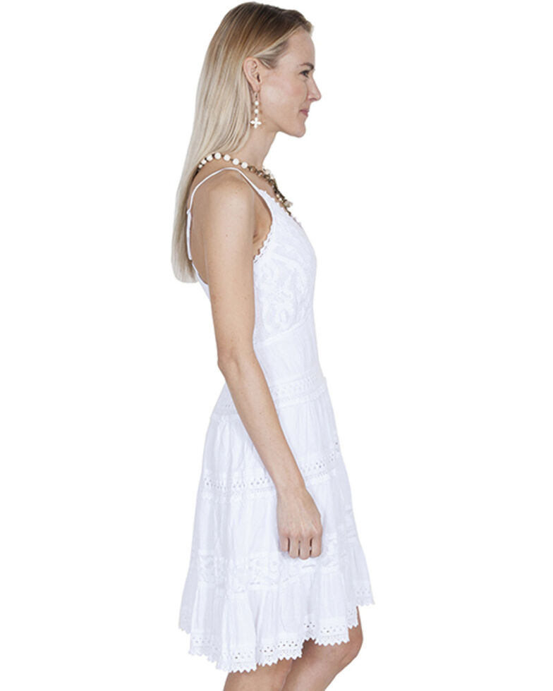 Cantina by Scully Women's White Spaghetti Strap Dress, White, hi-res