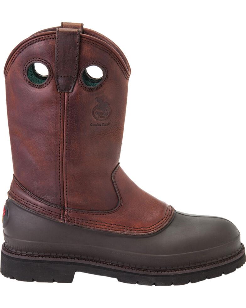 Georgia Men's Muddog Steel Toe Comfort Core Work Boots, Brown, hi-res