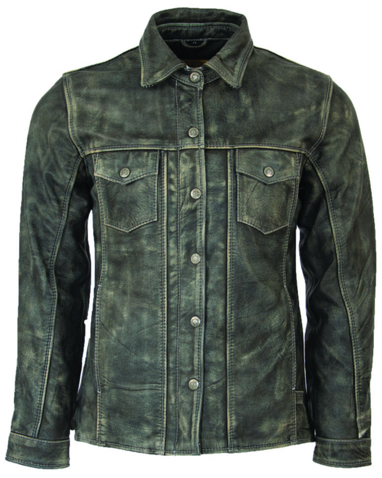 STS Ranchwear Men's Grey The Ranch Hand Leather Jacket , Steel, hi-res