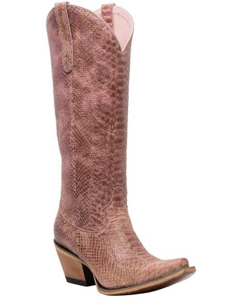 Lane Women's Desert Highway Western Boots - Snip Toe, Pink, hi-res