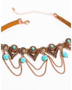 Shyanne Women's Wanderlust Chain Loop Choker , Tan/copper, hi-res