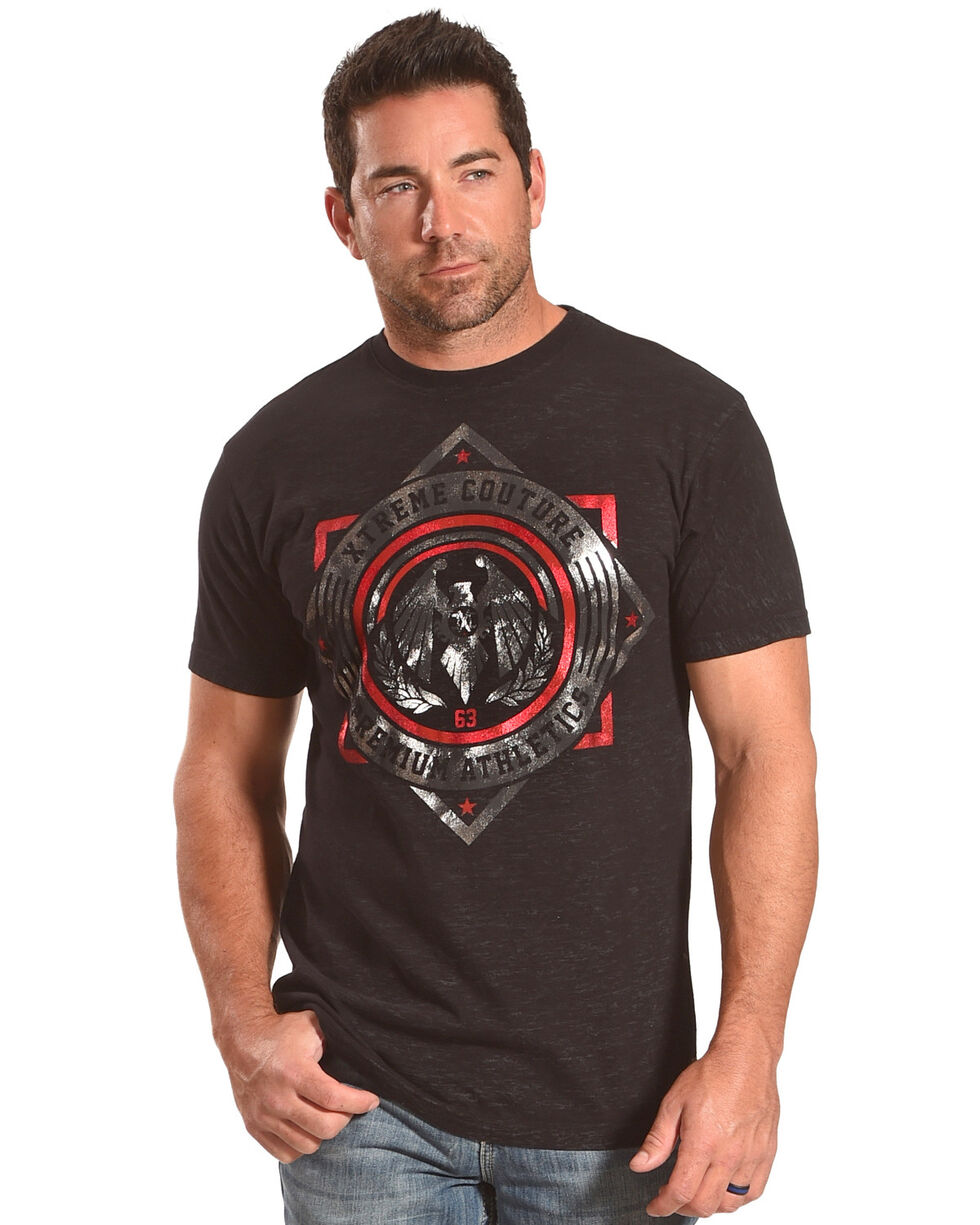 Xtreme Couture Men's Black Shock Trooper Tee , Black, hi-res