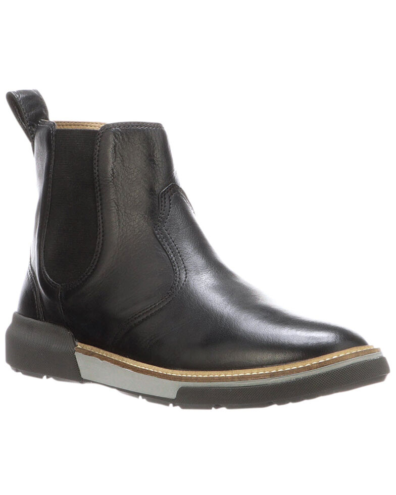 Lucchese Men's Florence Buffalo Chelsea Boots - Round Toe, Black, hi-res