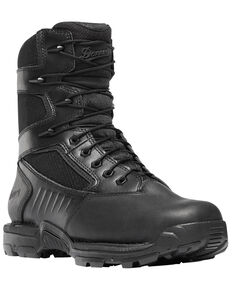 "Danner Men's Black Striker Bolt 8"" Work Boots - Round Toe , Black, hi-res"