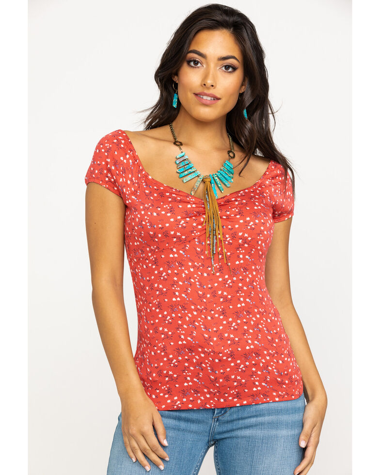 Idyllwind Women's Second Date Tee, Red, hi-res