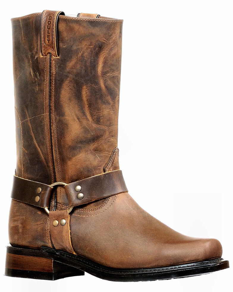 Boulet Men's Motorcycle Boots - Narrow Square Toe, Brown, hi-res