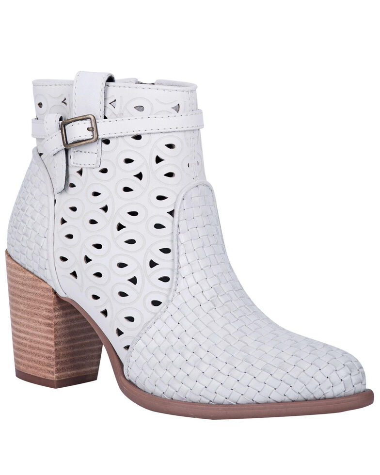 Dingo Women's Off White Be Famous Fashion Booties - Round Toe, Off White, hi-res