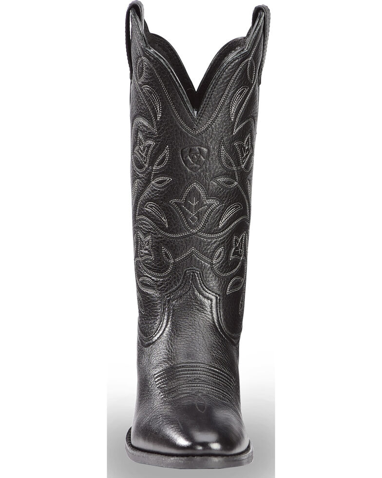 Ariat Western Deertan Cowboy Boots - Medium Toe, Black, hi-res
