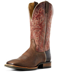 Ariat Men's Reacher Western Boots - Wide Square Toe, Brown, hi-res