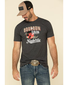 Moonshine Spirit Men's Bourbon Barn Graphic Short Sleeve T-Shirt , Black, hi-res