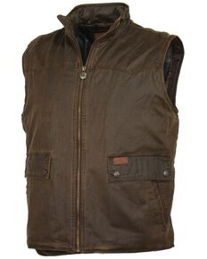 Outback Men's Water Resistant Landsman Vest, Brown, hi-res