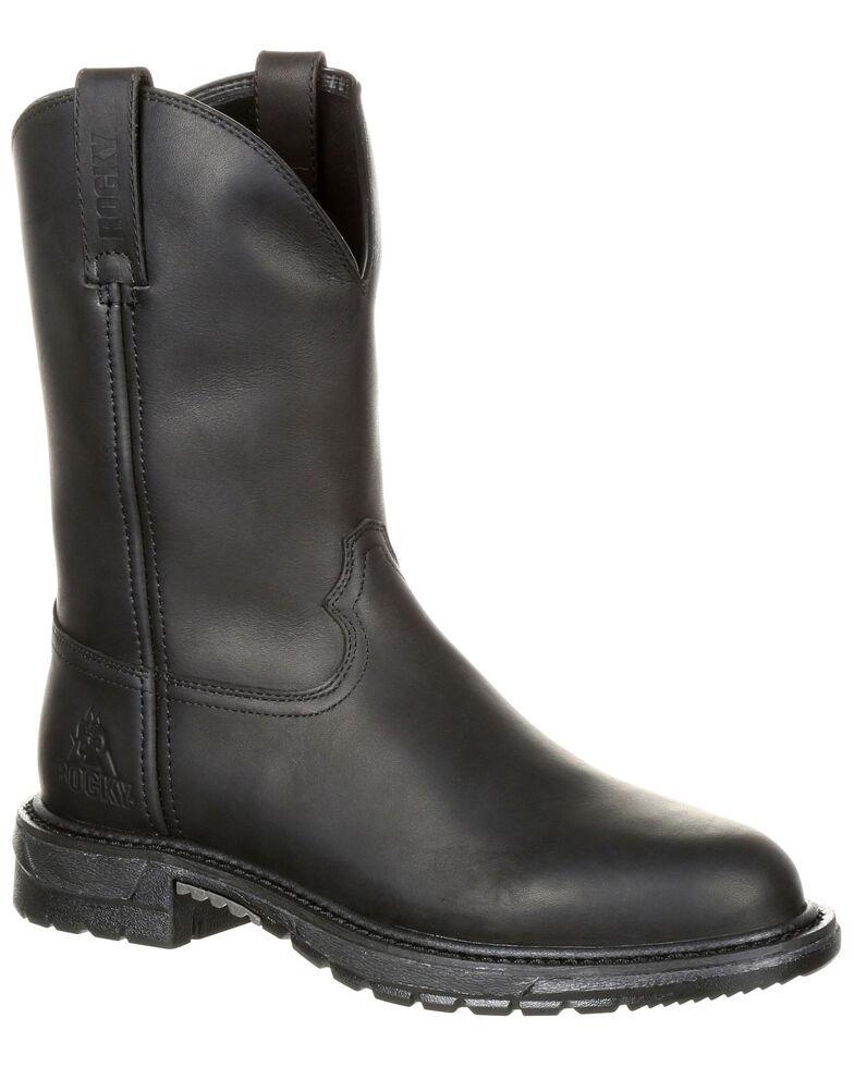 Rocky Men's Original Ride Flex Western Work Boots - Round Toe, Brown, hi-res