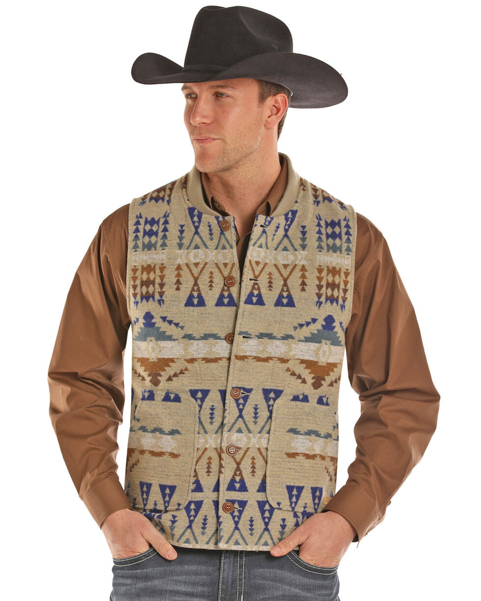 Powder River Outfitters Men's Idaho Liner Vest, Tan, hi-res