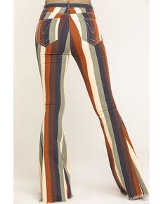 Show Me Your Mumu Women's Retro Stripe Berkeley Zip Up Bells, Multi, hi-res