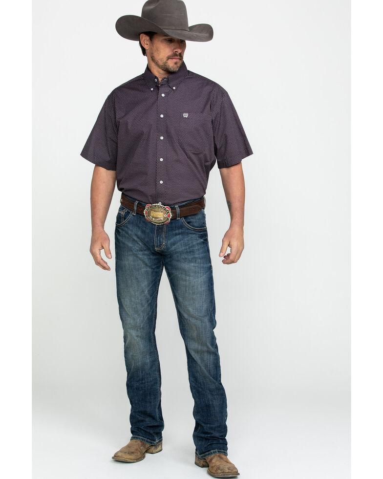 Cinch Men's Tencel Multi Geo Print Short Sleeve Western Shirt , Multi, hi-res