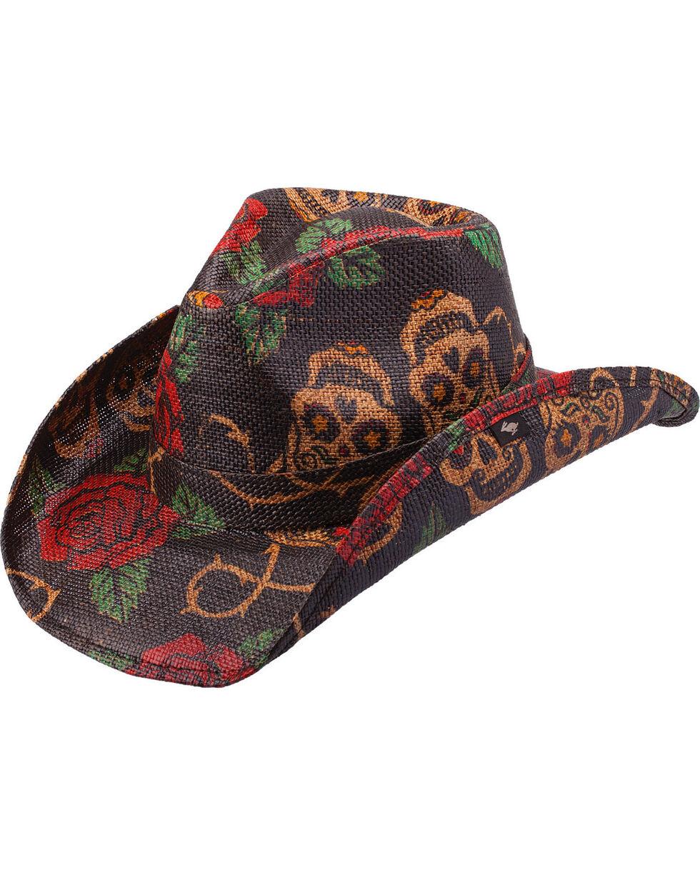 Peter Grimm Tainted Love Straw Cowboy Hat, Tea, hi-res