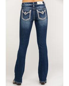 """Miss Me Women's Dark Faux Flap 34"""" Bootcut Jeans, Blue, hi-res"""