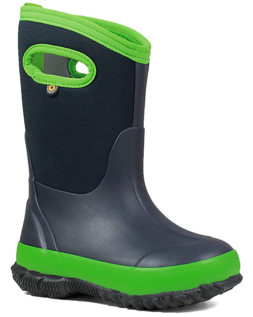 Bogs Girls' Classic Matte Insulated Boots - Round Toe, Navy, hi-res
