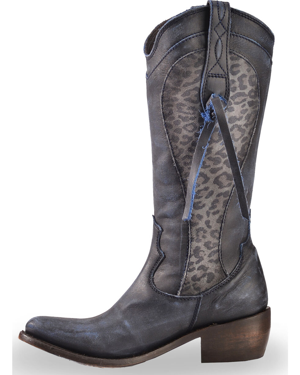 Liberty Black Women's Azul Vintage Delano Cott Boots - Medium Toe , Blue, hi-res
