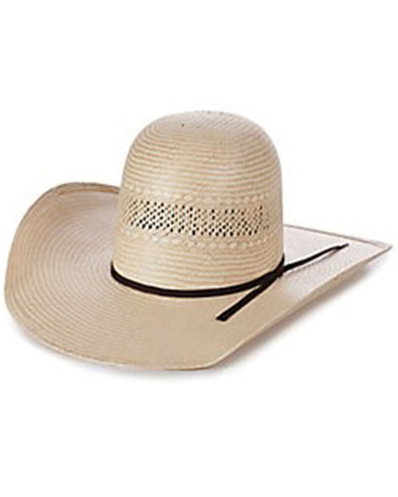 Rodeo King Tan & Ivory 25X Ft. Worth Shantung Straw Western Hat , Brown, hi-res