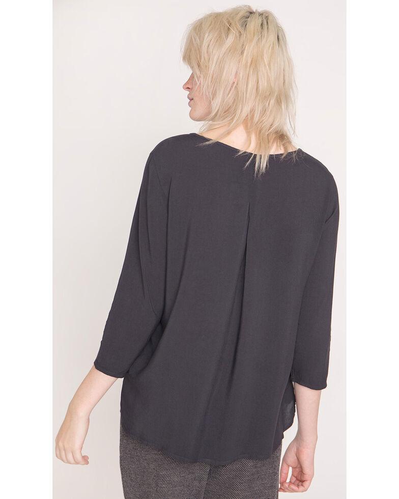 Friday's Project Women's Black 3/4 Sleeve Top , Black, hi-res