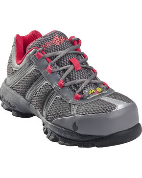 Nautilus Women's Steel Toe ESD Athletic Safety Shoes, Grey, hi-res