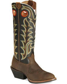 Tony Lama Men's Ranchin' Ropin' Ridin' 3R Western Boots, Tan, hi-res