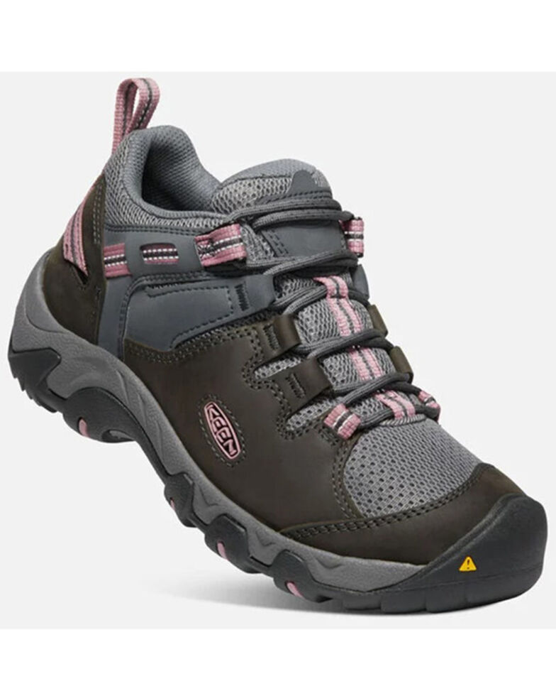 Keen Women's Steens Hiking Boots - Soft Toe, Red, hi-res