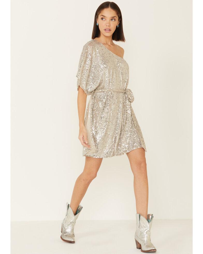 Show Me Your Mumu Women's Sparkle Trish Dress, Silver, hi-res