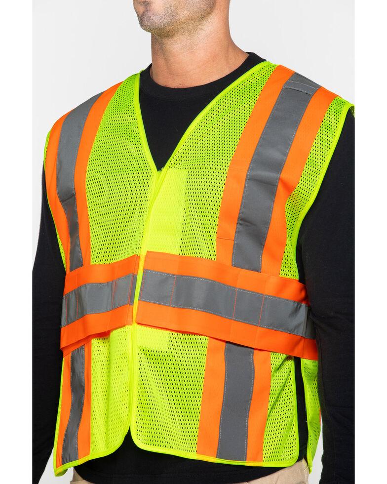 Hawx® Men's 2-Tone Mesh Work Vest, Yellow, hi-res