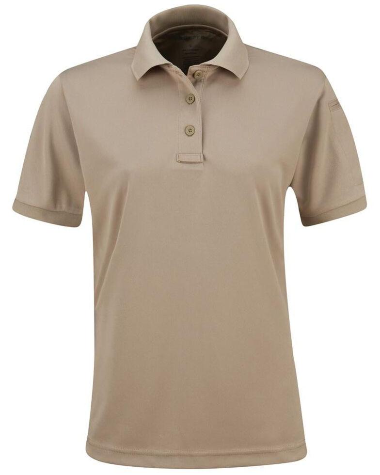 Propper Women's Solid Uniform Short Sleeve Work Polo Shirt , Tan, hi-res