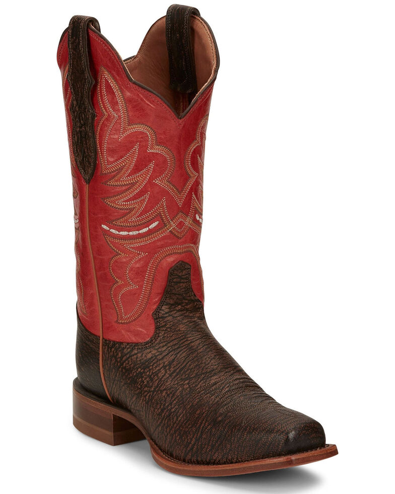 Justin Women's Rumer Walnut Western Boots - Wide Square Toe, Brown, hi-res