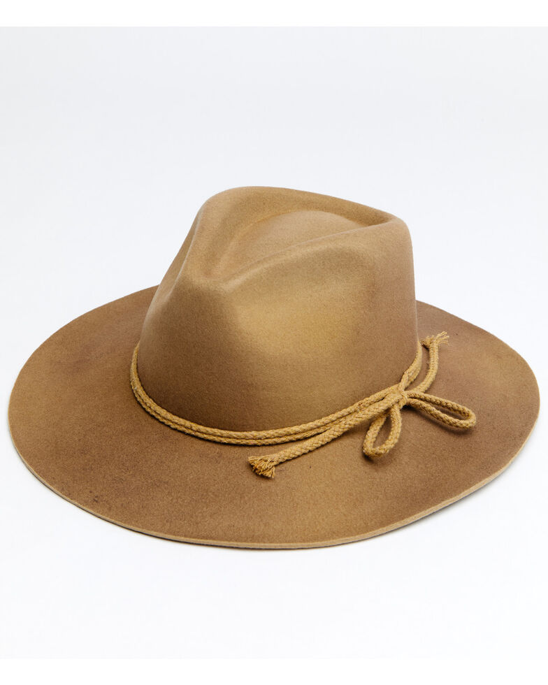 Shyanne Women's Tan O Aster Wool Felt Western Hat , Tan, hi-res