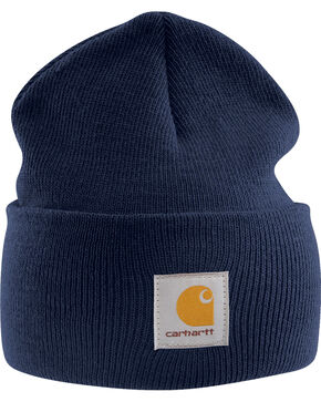 Carhartt Acrylic Navy Watch Hat, Navy, hi-res