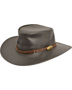 4997612a945 Jacaru Swagman Leather Outback Hat