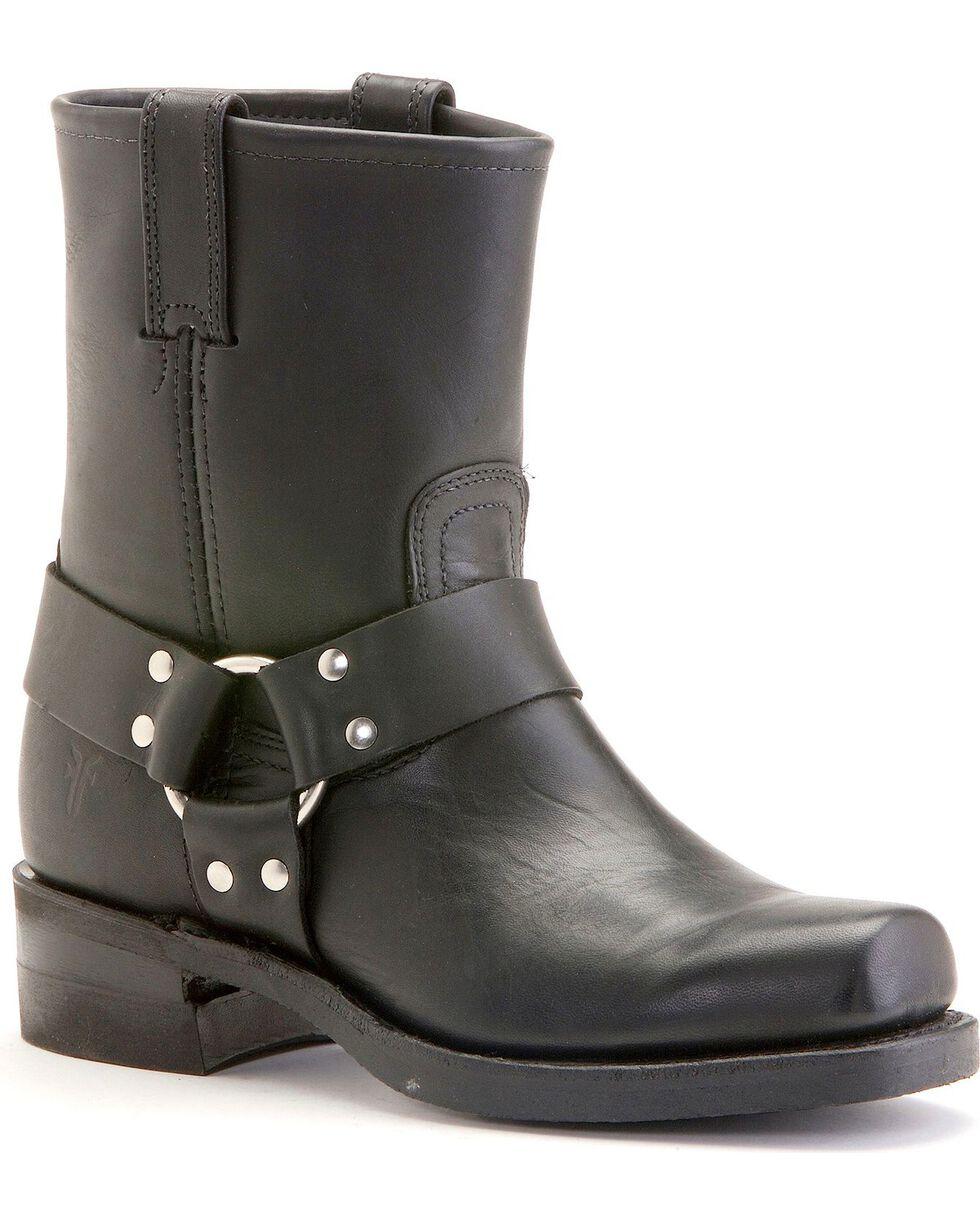 Frye Men's Short Harness Motorcycle Boots, Black, hi-res