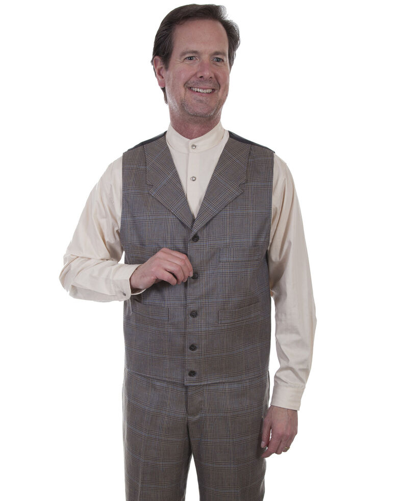 Scully Men's Plaid Vest , Multi, hi-res