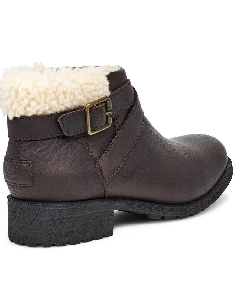 UGG Women's Benson Harness Boots - Round Toe, Dark Brown, hi-res