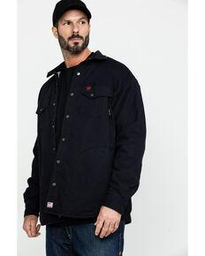 Ariat Men's FR Rig Shirt Work Jacket - Tall , Black, hi-res