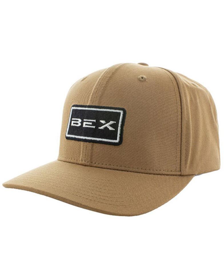 Bex Men's Ragged Solid Tan Logo Patch Air Fit Ball Cap , Tan, hi-res