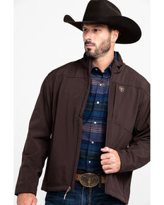 Ariat Men's Coffee Bean Vernon 2.0 Softshell Jacket - Big & Tall , Brown, hi-res