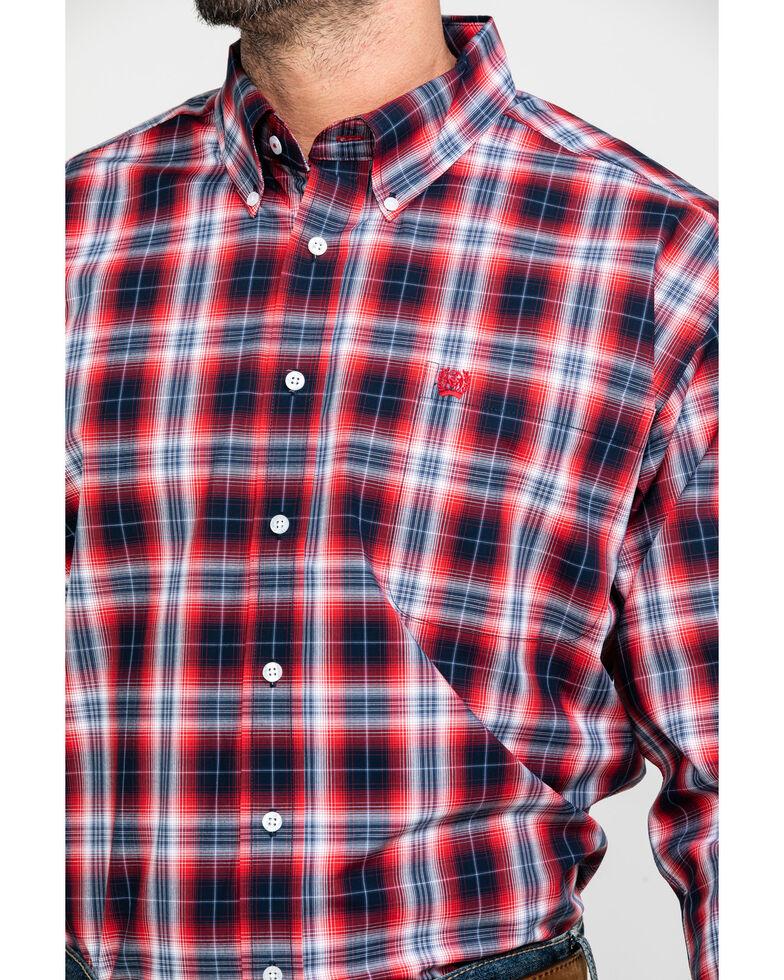 Cinch Men's Multi Small Plaid Button Short Sleeve Western Shirt , , hi-res