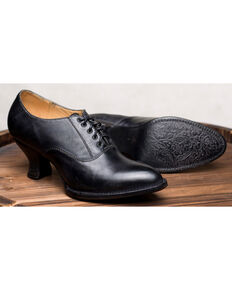 Oak Tree Farms Janet Black Heels - Medium Toe, Black, hi-res