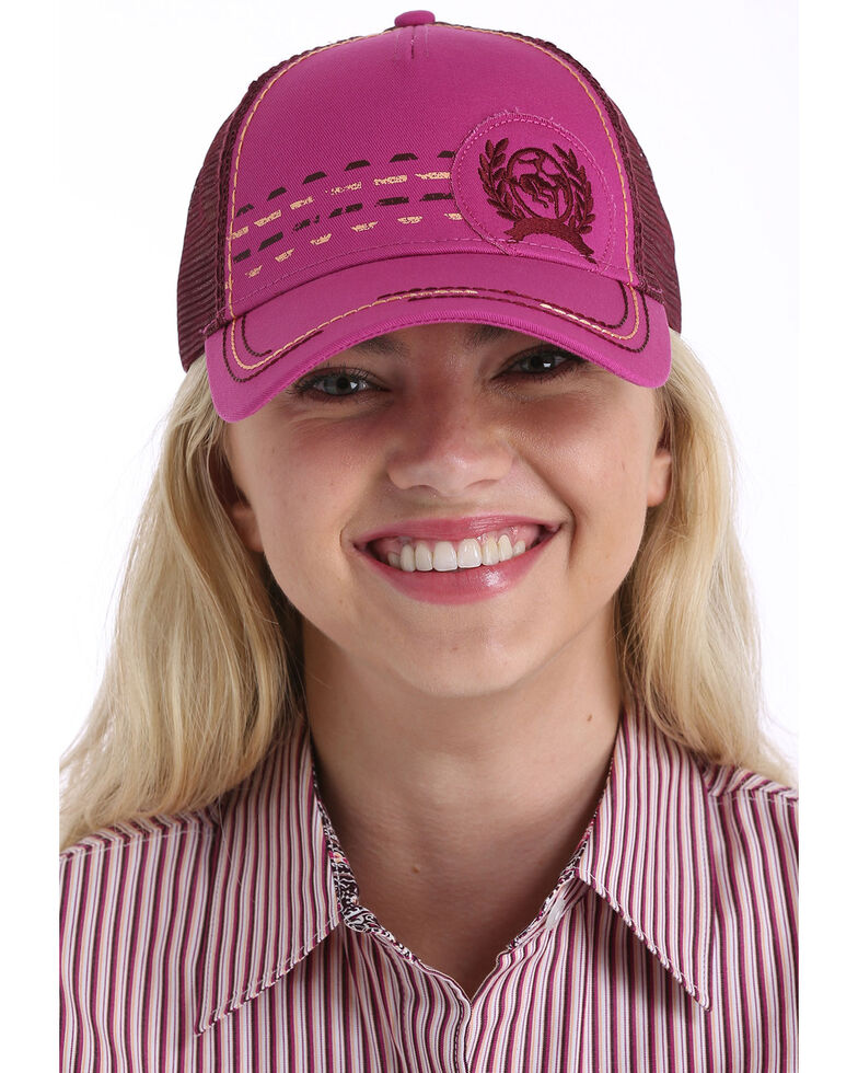Cinch Women's Pink Trucker Ball Cap , Pink, hi-res